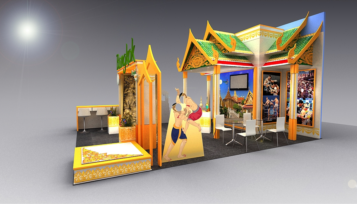 Exhibition Stand Evaluation : Bangkok in london abyss exhibition stand and design
