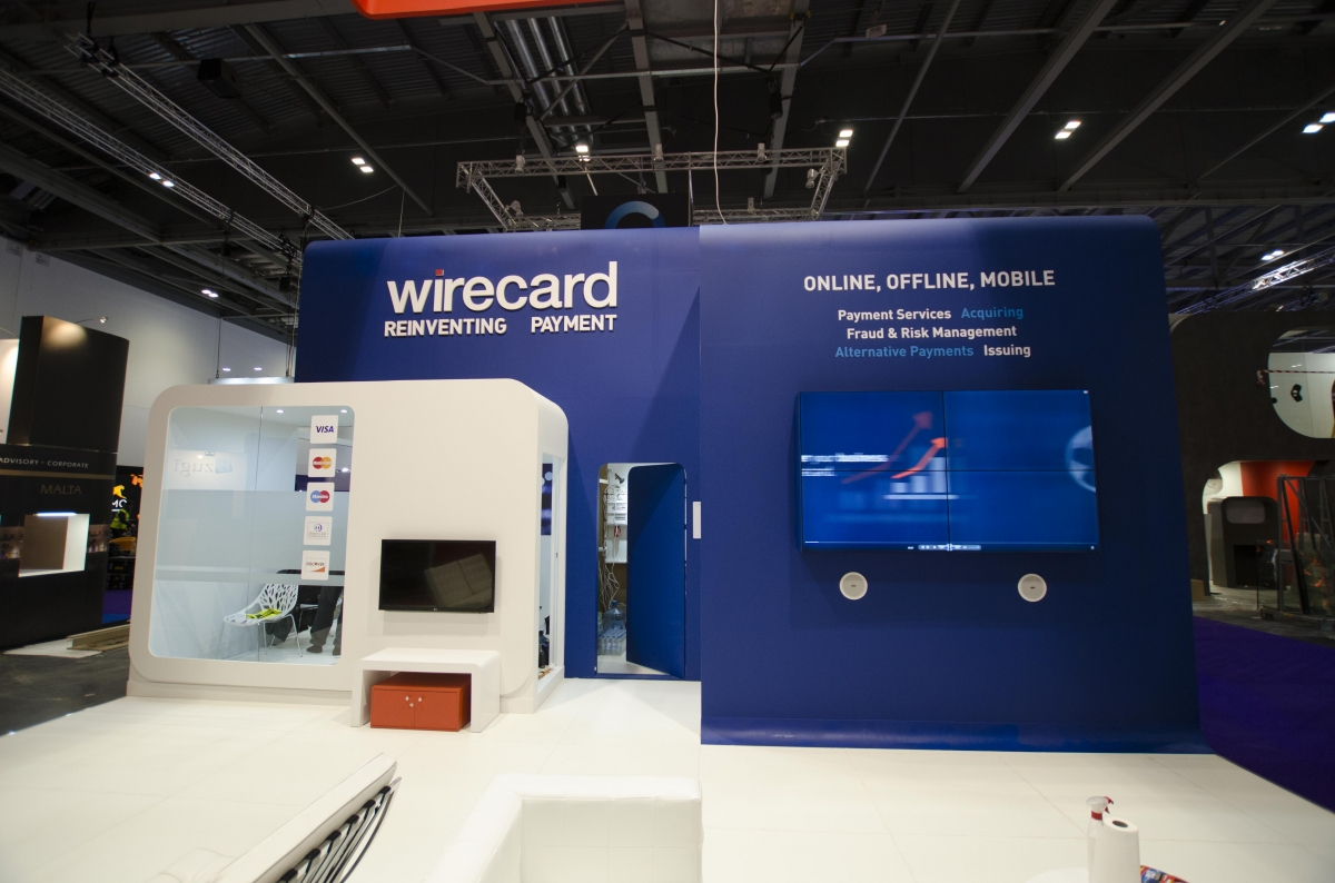 Expo Stands Krzysztof Sobiech : Wirecard in london abyss exhibition stand and design